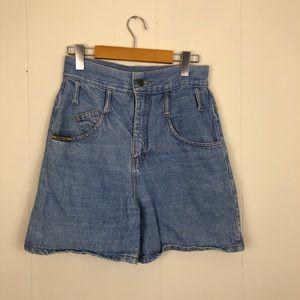 Vintage High Waisted Denim Shorts Sz 26